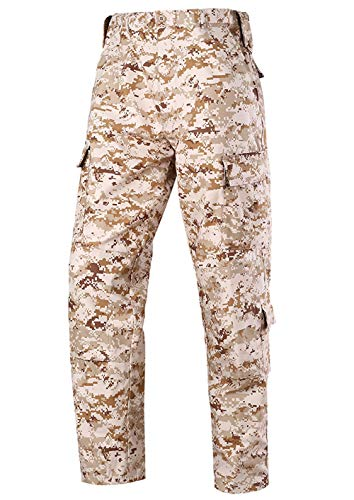 LANBAOSI Tactical Combat Pants Multicam Military Army Cargo Pants Outdoor Airsoft Hunting ACU Camo Trousers