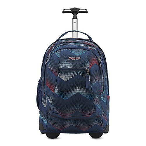 Rolling Backpack Wheels (JanSport JS00TN8940L Driver 8 Backpack, Matrix Chevron Navy)