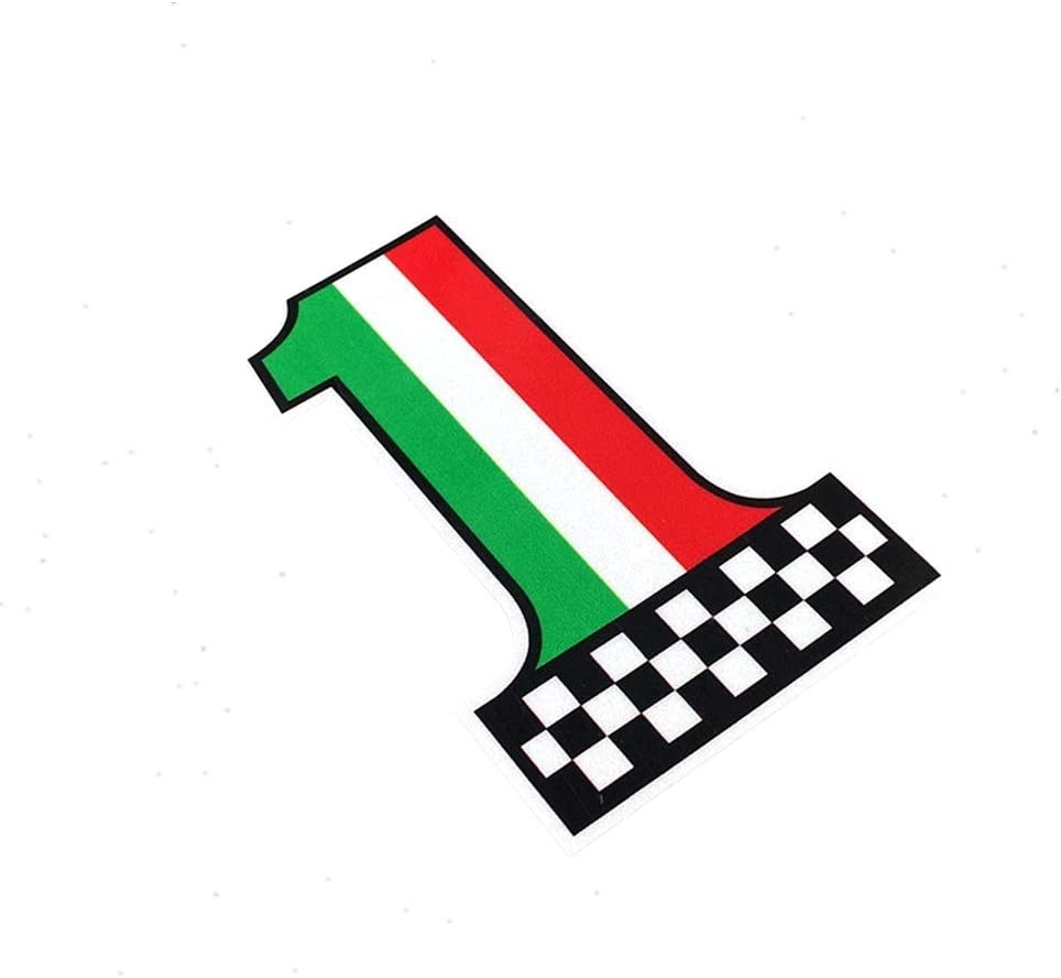 Langersun 2PCS Motorcycle Bike Stickers National Flag Made in Italy Car Window Body Vinyl Bumpers 12x7cm
