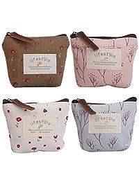 MonkeyJack 4 Pieces Ladies Women Designer Purse Wallet Girls Coin Purse Handbag
