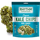 Rhythm Superfoods Kale Chips, Kool Ranch, Organic and Non-GMO, 2 Oz (Pack of 4), Vegan/Gluten-Free Superfood Snacks