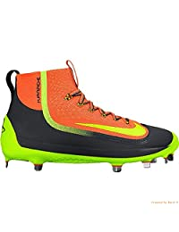 Nike Air HUARACHE 2KFILTH ELITE Mid Baseball Cleats (Orange/Anthracite/Volt)