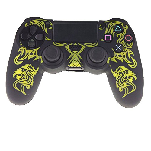 - Gotor Silicone PS4 Controller Skin, Design of Water Transfer Printing Skin Protector Cover Case for Sony PlayStation 4 Controller Color Yellow with Black