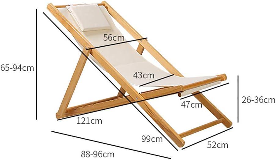 YB&GQ Pliable Bois Chaises De Plage,Portable Chaise De