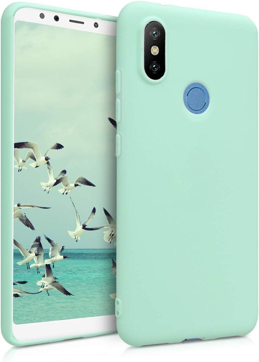 kwmobile Funda Compatible con Xiaomi Mi 6X / Mi A2 - Carcasa de TPU Silicona - Protector Trasero en Menta Mate