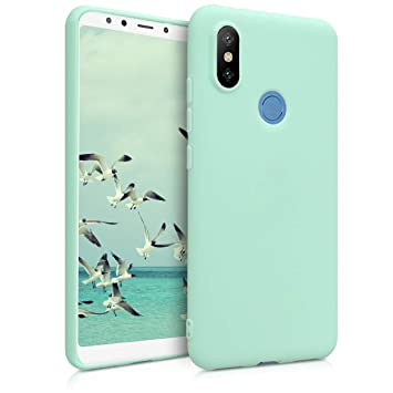 kwmobile Funda para Xiaomi Mi 6X / Mi A2 - Carcasa para móvil en [TPU Silicona] - Protector [Trasero] en [Menta Mate]