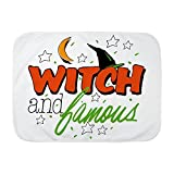 Royal Lion Baby Blanket White Halloween Witch and Famous Hat