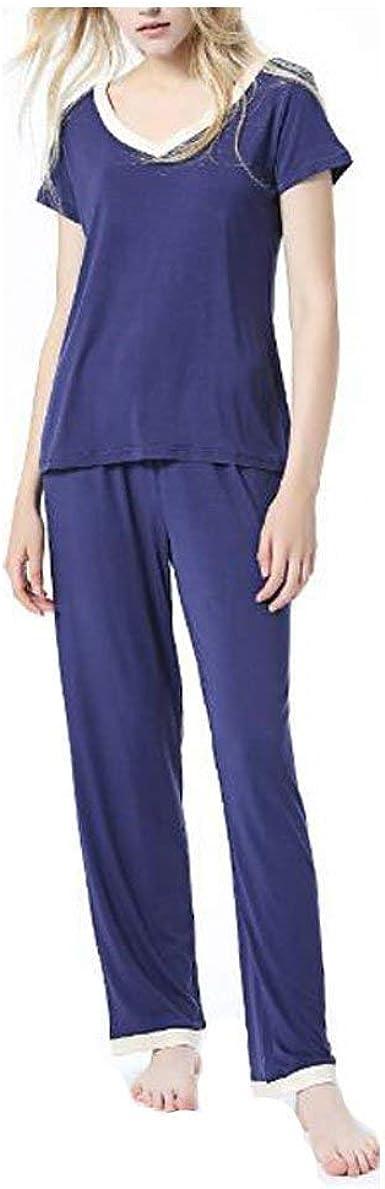 Mujer Ropa De Dormir Verano Pijamas Mujer Tshirt + Elegante ...