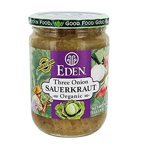 Eden Foods Three Onion Organic Sauerkraut - 18 oz (2 jars) by Eden