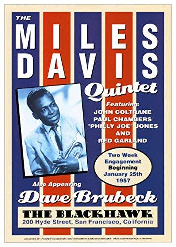 (17x24) Miles Davis Quintet Jazz POSTER Coltrane Brubeck RARE (Best Jazz Clubs In San Francisco)
