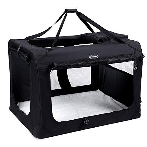 SONGMICS 캐리 백 츄우오우대학형 개 70×52×52cm 견용 애완동물 캐리 소동물 실내복가 접을 수 있 NPDC70H