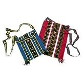 Handwoven Two Tote Bags Wool Peru Hualhuas 9'' X 10''