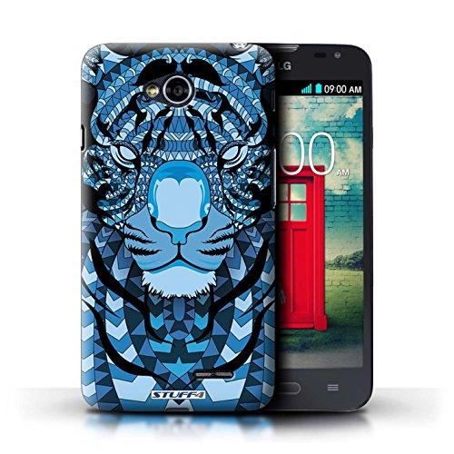 Kobalt® Imprimé Etui / Coque pour LG L70/D320 / Tigre-Bleu conception / Série Motif Animaux Aztec