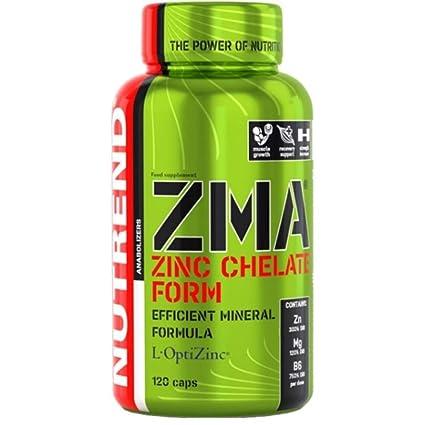 Nutrend ZMA 120 Caps de magnesio y la Forma zinc con vitamina B6 lograr el metabolismo