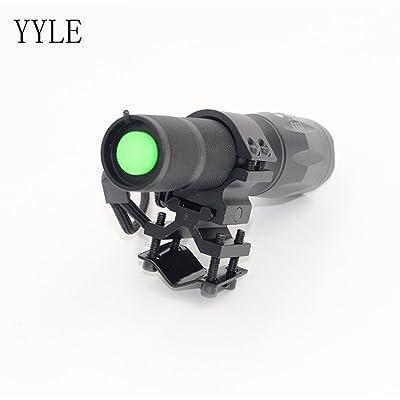 tactique à LED Lampe de poche 5000LM Zoomable lampe de poche pour Hunt Light + batterie + chargeur Interrupteur à distance + Support
