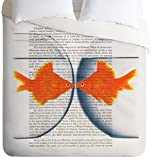 Deny Designs Coco de Paris Goldfish Love Duvet Cover, King
