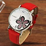 RED Ladies Wrist Watch Women 2018 Clock Quartz Watch Quartz-watch