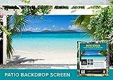 Tropical Ocean Front Patio & Gazebo Backdrop Screen 9-ft. x