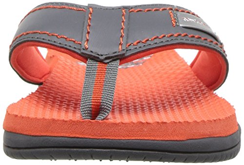 New Balance Unisex-Kids Mojo Thong Flip-Flop, Grey/Orange, P13 M US Little Kid by New Balance (Image #4)