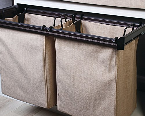 Hafele Laundry Hamper - Laundry/Pant Rack Pull-Out Frame, ENGAGE by Hafele, Matt nickel, 24