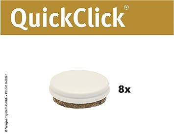 """Durchmesser 25 mm WAGNER QuickClick/® Stuhlgleiter //// 8er-Set Ersatzgleiter //// /""""Duo/"""" 15833100"""