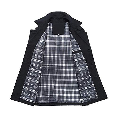 Outwear Trench Tomatoa Jacket Jacket Coat Winter Men Outdoor Warm Buttons Overcoat Slim Men Black Coat Thick Winter Warm Long RwZR7gqrx