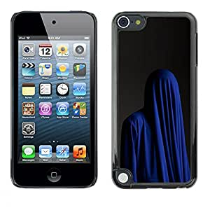 For Apple iPod Touch 5 Case , Fashion Religion Muslim Burka Blue - Diseño Patrón Teléfono Caso Cubierta Case Bumper Duro Protección Case Cover Funda