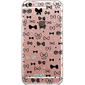 Dailyobjects Bow Tie Clear Case For iPhone 6S