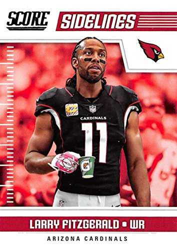 2018 Score Sidelines #11 Larry Fitzgerald Arizona Cardinals Football Card