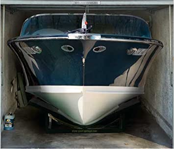 Garagentor Fotoplane Boot 245 Cm X 210 Cm Amazon De Kuche Haushalt