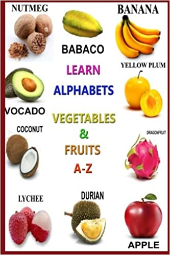 learn alphabets vegetables and fruits abc z alphabet books for