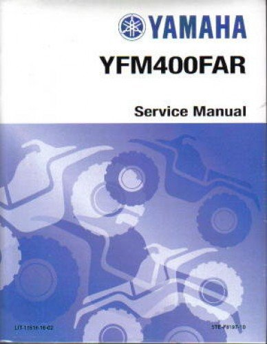 LIT-11616-16-02 2003 Yamaha YFM400FAR Kodiak ATV Service Manual PDF Text fb2 book