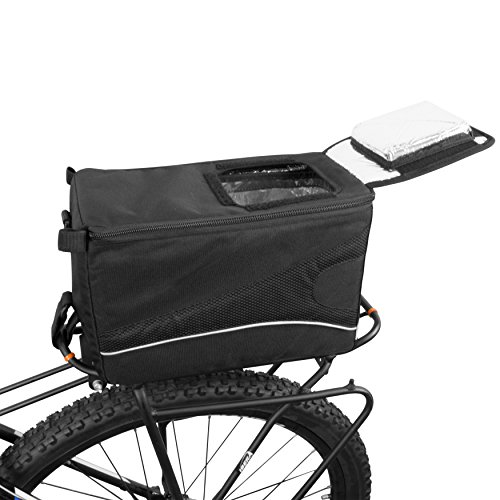 BV Insulated Trunk Cooler Bag for Warm or Cold Items, Shoulder Strap & Quick Access Lid Opening
