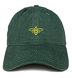 13dcdac1f621f Trendy Apparel Shop Bee Embroidered Brushed Cotton Dad Hat Cap - Black at  Amazon Men s Clothing store