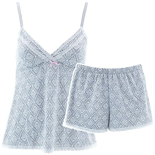 laura-ashley-womens-silver-damask-short-pajama-set-m
