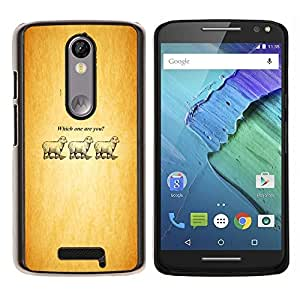 Stuss Case / Funda Carcasa protectora - Which One Are You - Lamb - Funny - Motorola Moto X3 3rd Generation