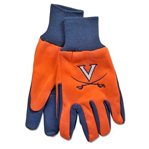 - NCAA Virginia Cavaliers Two-Tone Gloves, Orange/Blue