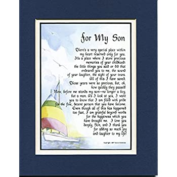 Amazon Gift Present Poem For My Son 51 Home Decor Gift