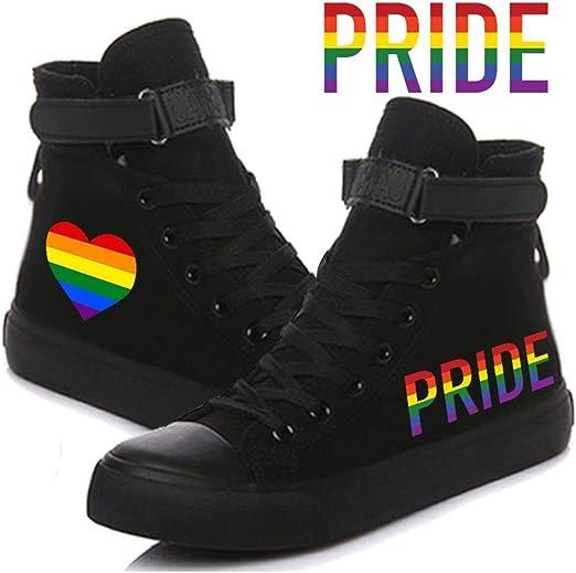 1 Pcs LGBT Pride Canvas High Tops