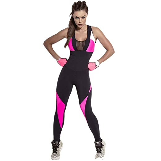 OUFour Mujeres Vendaje Playsuit Deportes Gimnasia Mono y Mameluco Fitness Jogging para Pantalones de Yoga Jumpsuits
