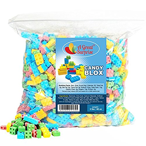 Candy Blocks - Candy Blox - Candy Building Blocks, 3 LB Bulk -