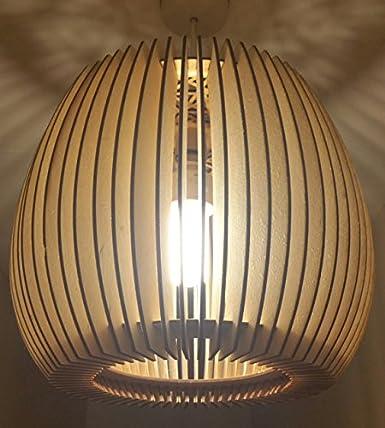 Lámpara de techo con madera natural, diseño rústico, tamaño ...