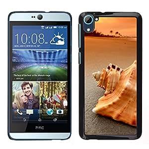 Caucho caso de Shell duro de la cubierta de accesorios de protección BY RAYDREAMMM - HTC Desire D826 - Playa Mar Shell