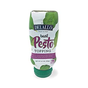 DeLallo Squeeze Basil Pesto Topping 6.7 oz(pack of 2)