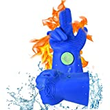 MagneCHEF Silicone BBQ Gloves | Revolutionary Heat Resistant Grilling Gloves | Patented Magnetic Safety Clip For Easy On & Off Access | Thicker Flexible Silicone