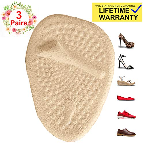 Metatarsal Pads for Womens Heel Cushion Inserts - All Day Pain Relief and Comfort High Heel Pads Shoe Inserts, 3 Pairs Anti Slip Shoe Pads Also Suitable for Mens
