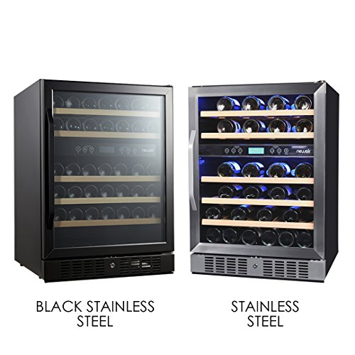 NewAir AWR-460DB-B Dual Zone 46 Bottle Built in Wine Cooler, Black Stainless Steel by NewAir (Image #8)
