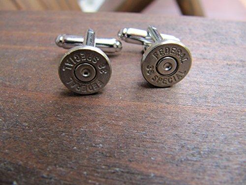 Bullet Cuff Links - 38 Caliber Bullet Cufflink ()