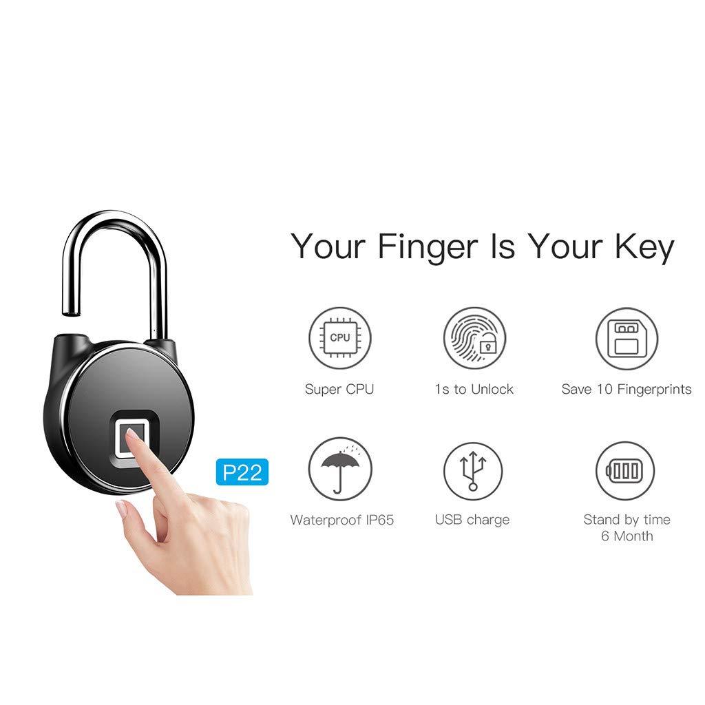 e966a48852ad certainPL Anti Theft Fingerprint Padlock Smart Bluetooth Security ...