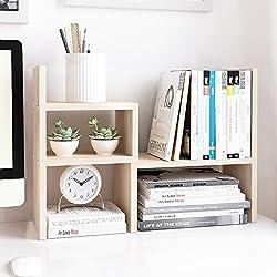 Jerry & Maggie Desktop Organizer Office Storage Rack Adjustable Wood Display Shelf | Birthday Gifts - Toy - Home Decor | - Free Style Rotation display - True Natural Stand Shelf